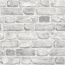 grey vintage old house brick wall feature designer wallpaper grandeco a28903