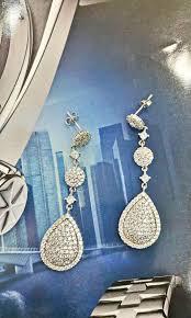 Großhandel Kreisförmige Ohrstecker Teardrop Dangle Kronleuchter Platin Beschichtet Rose Gold Plated Schmuck Großhandel Kupfer Ohrringe Hochzeit