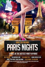 Part Flyer Paris Nights Party Flyer Template Mustache Themes