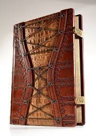 an exquisitely rich detailed embossed book for your thoughts hand tinted leather creating an uniq large leather corset journal x 8 inches