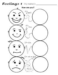 Preschool Emotions Printables Androidstarter Club Senses And