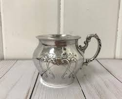 Silver Plate Pattern Chart Vintage Gorham Silver Plated Baby Cup Chantilly Pattern Silverplate Holloware Older Gorham Chantilly Yc1381