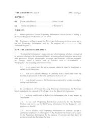 Nda Form Template Nda Form Template Non Disclosure Agreement Free Template