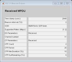 802 11 frame format ieee 802 11 wlan beacon frame matlab simulink mathworks españa