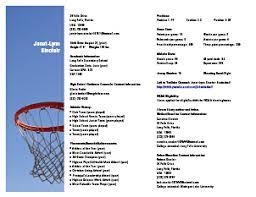 Sample Sports Resume Gallery