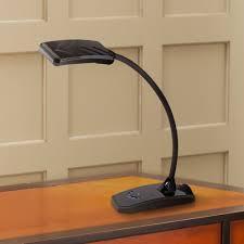 ricky black led desk lamp with usb port by lighting com