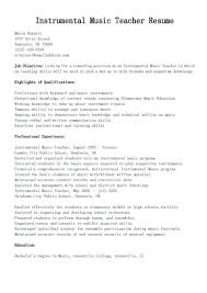 Music Teacher Resume Objective Examples resume Musician Resume Examples 11