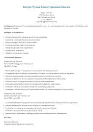 Resume Objectives For Government Jobs Elegant Sample Physical