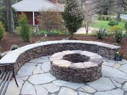 Burning This Stacked Stone Fire Pit Outdoor Right Here