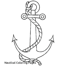 nautical coloring pages free boat anchor of star