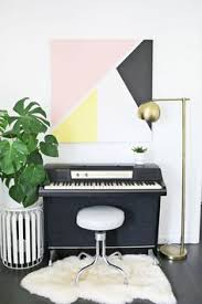 summer diy roundup 4 apartment decor projects you can do today on piano themed wall art with challenge fit piano into a tiny nyc loft mesh seamlessly with