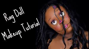 rag doll halloween makeup tutorial beginner friendly