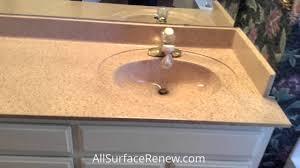 Refinish Cultured Marble Sink Vanity Refinishing Youtube