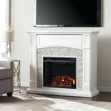 electric fireplace with mantel canada stone heater faux