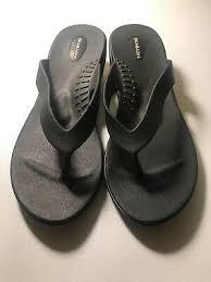Womens Okabashi Flip Flops Cross Strap Brown Choose Your
