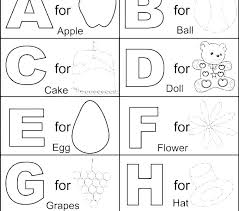 Alphabet Colouring Pages For Kindergarten The Letter A Coloring