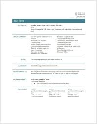 Google Docs Teaching Resume Example Good Resume Template