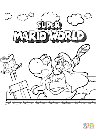 Super Mario World Coloring Page Free Printable Pages Within