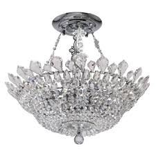 luxury 12 bulb ceiling chandelier in chrome finish with rich crystal décor