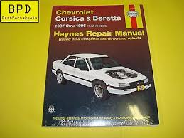 chilton repair manual 88 92 chevrolet corsica beretta w wiring haynes 87 96 chevrolet corsica beretta repair manual 24032