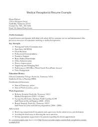 Receptionist Cover Letter For Resume Cover Letter Sample For Fascinating Spa Receptionist Resume