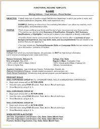 Functional Resume Template Functional Resume Template Chrono
