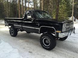 1987 Chevrolet Silverado 1500 V10 4×4 Black on Black, Lifted ...
