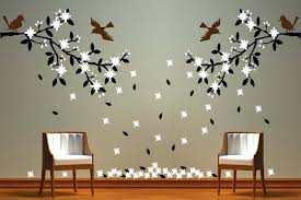 many kinds of unique wall painting design patterns for living room