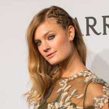 Twisted Hair Style constance jablonski wears a twisted updo hairstyle to the amfar 3405 by wearticles.com
