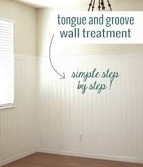 diy tongue groove walls