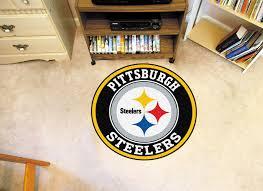 pittsburgh steelers logo roundel mat 27
