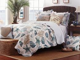 Tropical Seashell Aqua Blue 3 Piece Full/Queen Size Quilt Set Ivy ... & Tropical Seashell Aqua Blue 3 Piece Full/Queen Size Quilt Set Ivy Hill http: Adamdwight.com