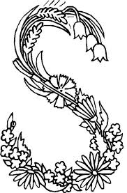 Small Picture Alphabet Flower S Coloring Pages coloring Pinterest Flower