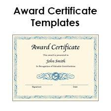 Award Certificate Template | Occupational Therapy! | Pinterest ...