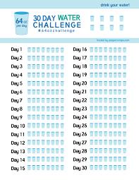 30 day water challenge 64ozchallenge