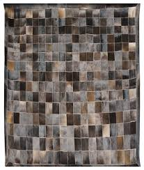 cowhide hair on leather patchwork area rugs 5x8 ft contemporary area rugs by saddlery inc
