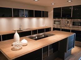 modern cherry kitchen cabinets. Wooden Kitchen Countertops Reviews Modern Bar Stool Design Cherry Wood Stainless Steel High Laminate Flooring Black Varnished Cabinets