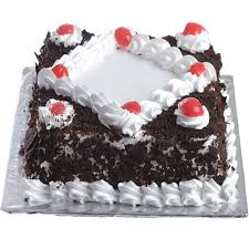 Delicious Black Forest Cake In Square To Gift Same Day Midnight