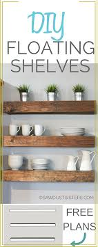 learn how to build floating shelves these diy floating shelves would look perfect in any