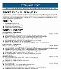 Customer Service Representative Resume Examples Sample Objective ...