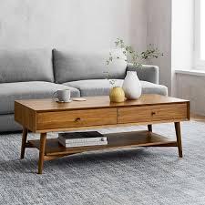mid century storage coffee table