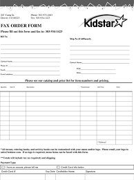 Fax Download For Fax Orders Download Our Fax Form Kidstar