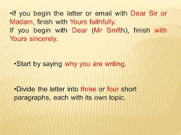 Letter dear sir madam yours sincerely        Original jeron je