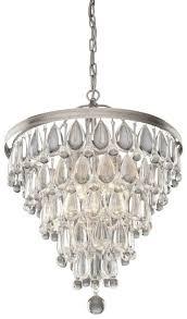 artcraft cl15006 6 light silver chandeliers