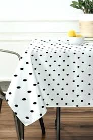 round polka dot tablecloth black and white table cloth tiny dots plastic