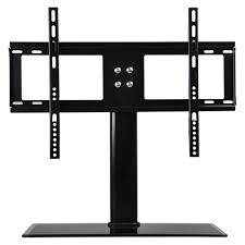 universal economic lcd flat screen tv table top stand glass base for 32 to 65 t v stand b64a