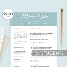 Student Resume Template Google Docs Resume For Students Resume Template First Job College Student Resume Graduate School For Freshers