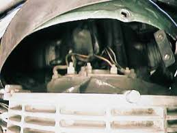 porsche alternator fan replacement and upgrade  wires attached to rear of alternator