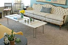 coffee table with hairpin legs diy vintage door coffee table with hairpin legs how to make coffee table with hairpin legs