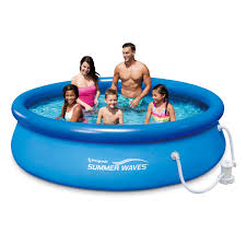 <b>Summer Waves</b>® 10ft Quick Set® Ring Pool with 600 GPH Filter ...